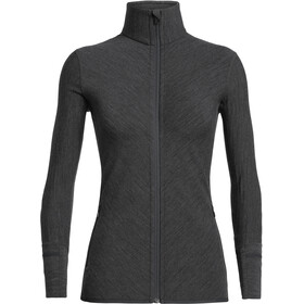 Icebreaker Descender LS Zip Jacket Dame jet heather